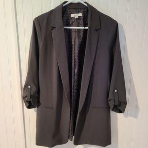 Kensie Women's Open Front Blazer, Blueish/Gray.SzL